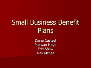 Small Business Benefit Plans