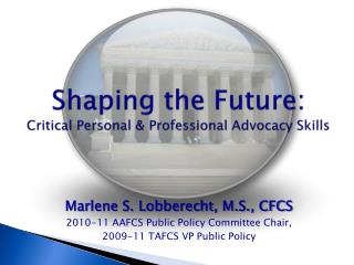 Shaping the Future: Critical Personal & Professional Advocacy Skills