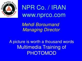 NPR Co. / IRAN nprco