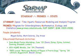 STARMAP  PRIMES  STATS