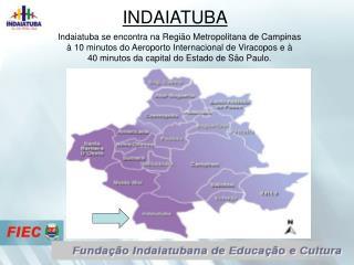 Indaiatuba se encontra na Região Metropolitana de Campinas