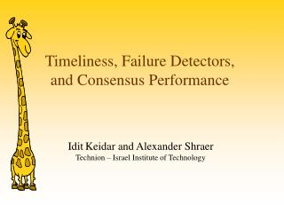 Timeliness, Failure Detectors, and Consensus Performance