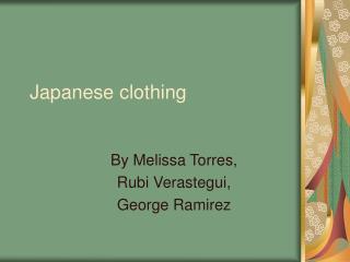 Japanese clothing
