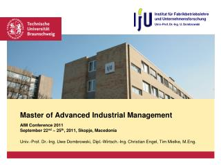 Master of Advanced Industrial Management