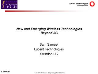 New and Emerging Wireless Technologies  Beyond 3G