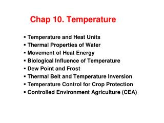 Chap 10. Temperature