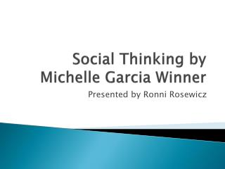 Social Thinking by Michelle Garcia Winner