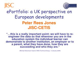 ePortfolio: a UK perspective on European developments