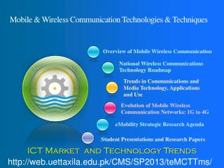 Mobile & Wireless Communication Technologies & Techniques