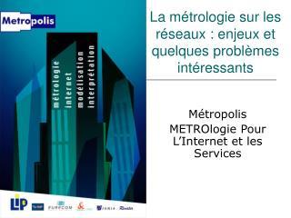 La métrologie sur les réseaux : enjeux et quelques problèmes intéressants