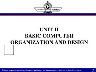 UNIT-II BASIC COMPUTER ORGANIZATION AND DESIGN