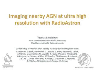 Imagin g  nearby AGN at ultra high resolution with  RadioAstron