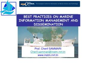 BEST PRACTICES ON MARINE INFORMATION MANAGEMENT AND DISSEMINATION
