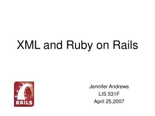 XML and Ruby on Rails