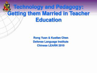 Technology and Pedagogy: Getting them Married in Teacher Education