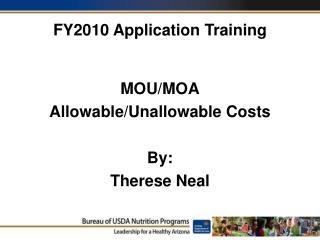 FY2010 Application Training