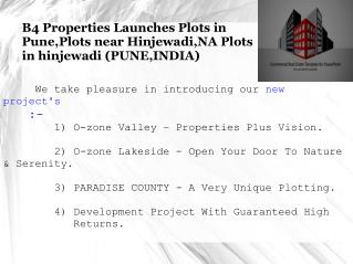 Plots near Pune | Plots near Hinjewadi | Plots in Pune.