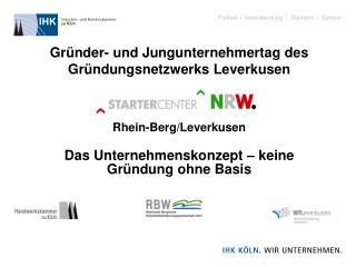 Gründer- und Jungunternehmertag des Gründungsnetzwerks Leverkusen Rhein-Berg/Leverkusen
