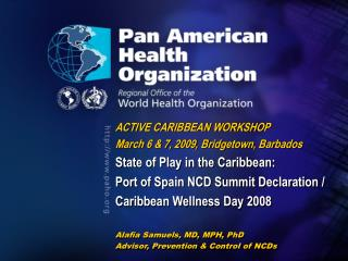 ACTIVE CARIBBEAN WORKSHOP March 6 & 7, 2009, Bridgetown, Barbados State of Play in the Caribbean: