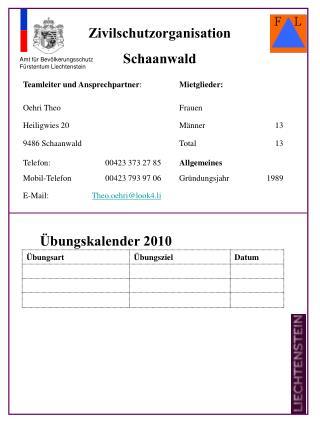 Zivilschutzorganisation Schaanwald
