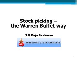 Stock picking – the Warren Buffet way