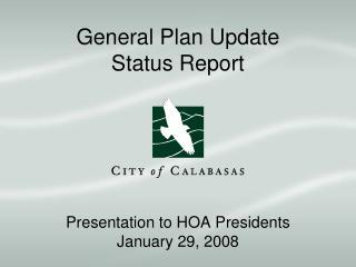 General Plan Update Status Report