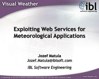 Exploiting Web Services for Meteorological Applications
