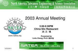 2003 Annual Meeting