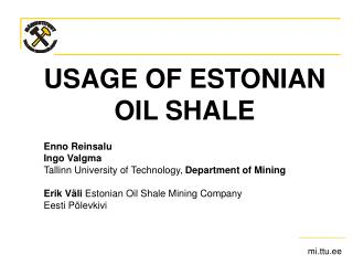 US AGE  OF ESTONIAN OIL SHALE