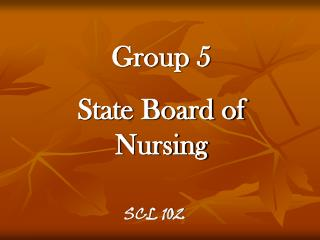 Group 5 State Board of Nursing