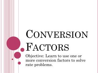 Conversion Factors