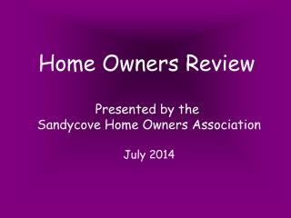 Home Owners Review