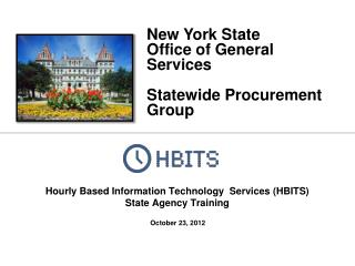 Hourly Based Information Technology   Services (HBITS) State Agency Training