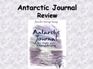 Antarctic Journal Review