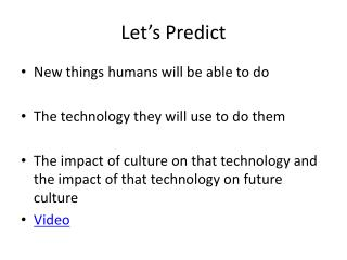 Let's Predict
