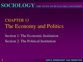 CHAPTER 13 The Economy and Politics
