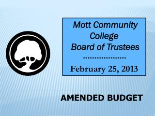 AMENDED BUDGET