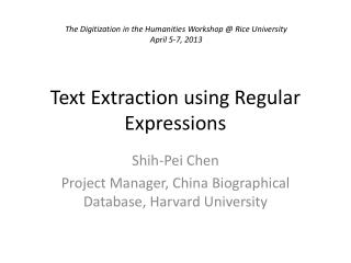 Text Extraction using Regular Expressions