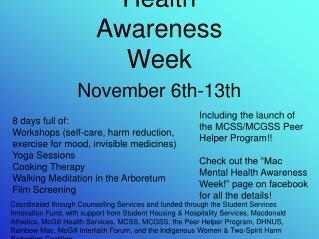 Mac Mental Health Awareness Week