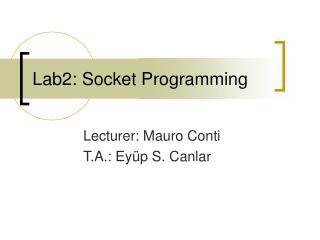 Lab2: Socket Programming