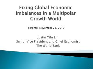 Fixing Global Economic Imbalances in a Multipolar Growth World