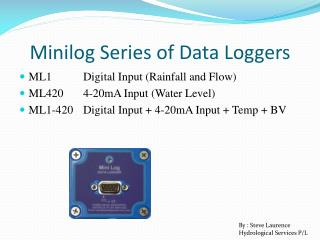 Minilog Series of Data Loggers