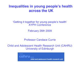 Inequalities in young people's health  across the UK
