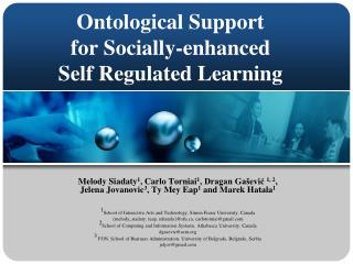 Ontological Support  for Socially-enhanced  Self Regulated Learning