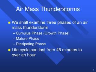 Air Mass Thunderstorms