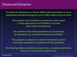 Disclosure/Disclaimer