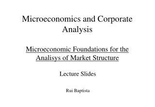 Lecture Slides Rui Baptista