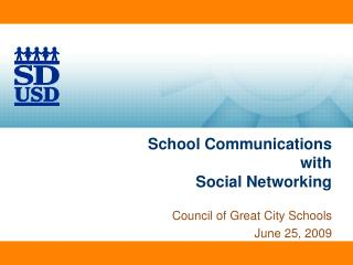 School Communications with  Social Networking