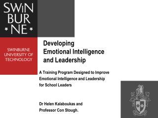 Developing Emotional Intelligence  and Leadership