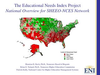 The Educational Needs Index Project National Overview for SHEEO-NCES Network